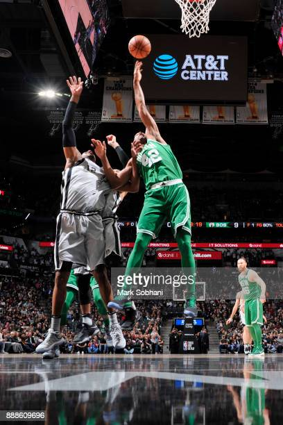 Al Horford of the Boston Celtics grabs the rebound against the San Antonio Spurs on December 8 2017 at the ATT Center in San Antonio Texas NOTE TO...