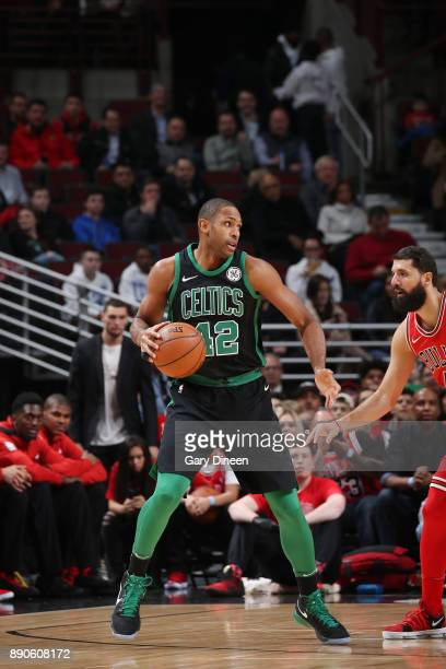 Al Horford of the Boston Celtics handles the ball against the Chicago Bulls on December 11 2017 at the United Center in Chicago Illinois NOTE TO USER...