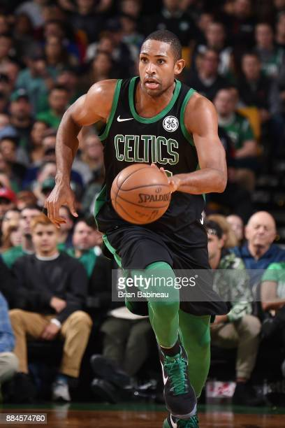 Al Horford of the Boston Celtics handles the ball against the Phoenix Suns on December 2 2017 at the TD Garden in Boston Massachusetts NOTE TO USER...