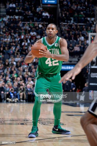 Al Horford of the Boston Celtics handles the ball against the San Antonio Spurs on December 8 2017 at the ATT Center in San Antonio Texas NOTE TO...