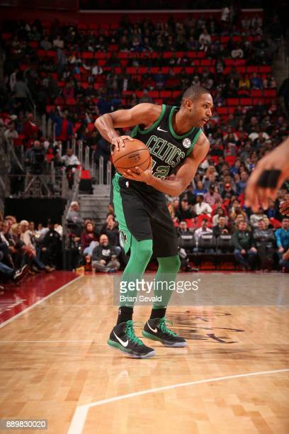 Al Horford of the Boston Celtics handles the ball Detroit Pistons on December 10 2017 at Little Caesars Arena in Detroit Michigan NOTE TO USER User...