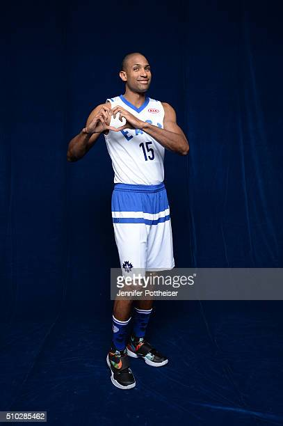 Al Horford of the Eastern Conference AllStars team pose for a portrait before the NBA AllStar Game on February 14 2016 at the Air Canada Centre in...