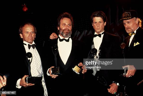 Al Jardine Carl Wilson Brian Wilson Mike Love of The Beach Boys attend the 1988 Rock n Roll Hall of Fame Induction Ceremony circa 1988 in New York...