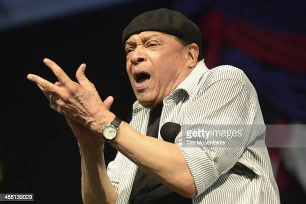 Al Jarreau performs during Day 6 of the 2014 New Orleans Jazz Heritage Festival at Fair Grounds Race Course on May 3 2014 in New Orleans Louisiana