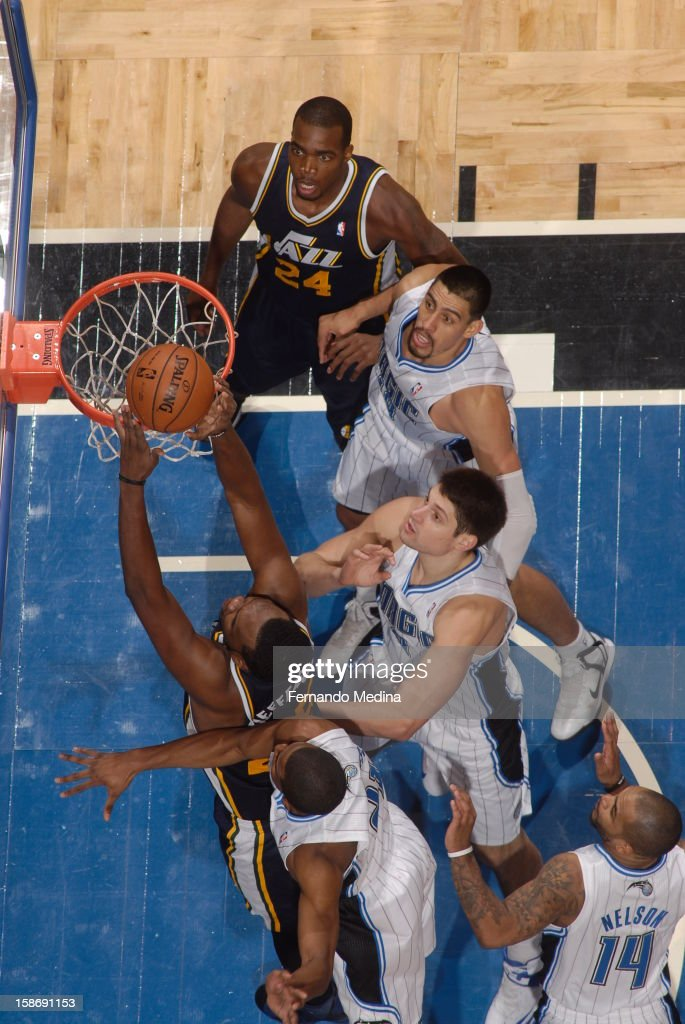 <a gi-track='captionPersonalityLinkClicked' href=/galleries/search?phrase=Al+Jefferson&family=editorial&specificpeople=201604 ng-click='$event.stopPropagation()'>Al Jefferson</a> #25 of the Utah Jazz goes up for a dunk against the Orlando Magic during the game on December 23, 2012 at Amway Center in Orlando, Florida.