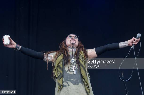 Al Jourgensen of Ministry performing live on Day 3 of Download Festival at Donington Park on June 11 2017 in Castle Donington UK