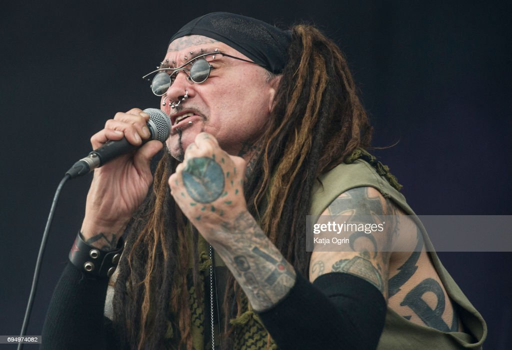 Al Jourgensen of Ministry performing live on Day 3 of Download Festival at Donington Park on June 11, 2017 in Castle Donington, UK.
