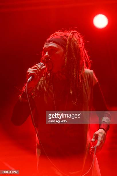 Al Jourgensen of Ministry performs on stage at the Download Festival on June 24 2017 in Madrid Spain