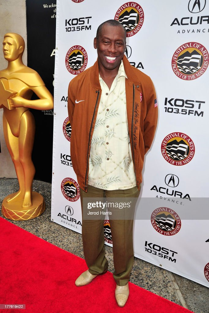 <a gi-track='captionPersonalityLinkClicked' href=/galleries/search?phrase=Al+Joyner&family=editorial&specificpeople=1066657 ng-click='$event.stopPropagation()'>Al Joyner</a> attends the Acura/KOST celebrity benefit concert and pageant on August 24, 2013 in Laguna Beach, California.