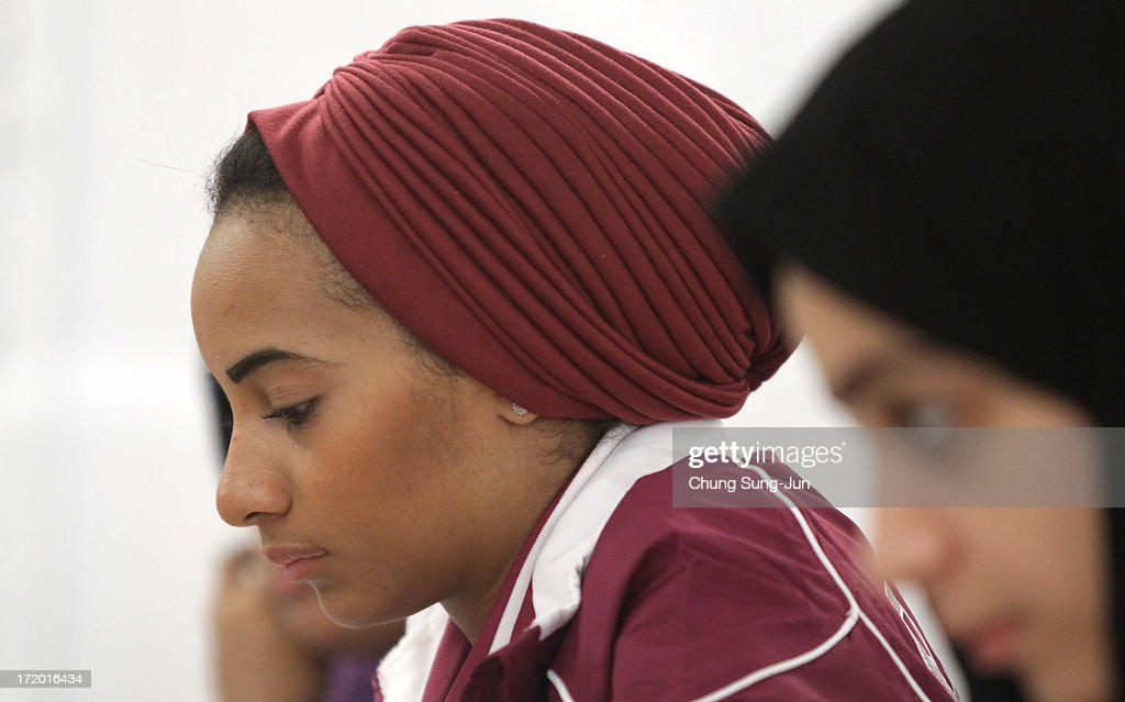 Al Khelaifi Aisha Ali of Qatar competes in the Chess, Women's Classical round 2 during day three of the 4th Asian Indoor & Martial Arts Games at Yonsei International Campus on July 1, 2013 in Incheon, South Korea.