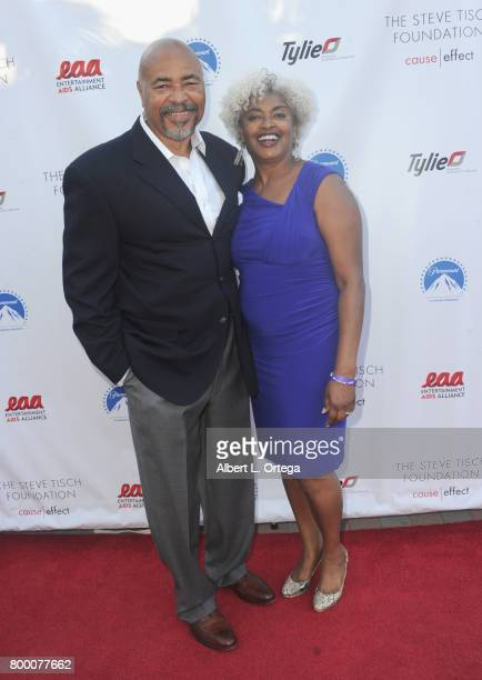 Al McMichael and Monica McMichael attend the Entertainment AIDS Alliance's Annual EAA Wine Wisdom Vision Event Benefiting Village Health Foundation...