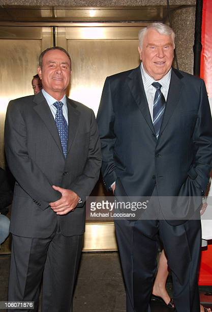 Al Michaels and John Madden during NBC 20062007 Primetime Upfront at Radio City Music Hall in New York City New York United States