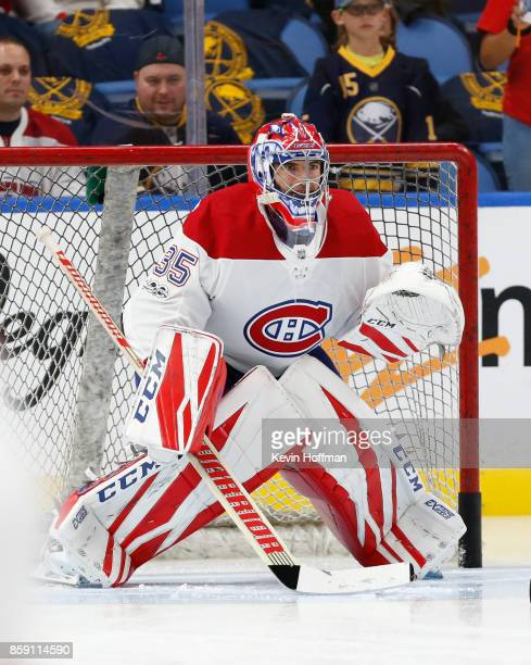 Al Montoya of the Montreal Canadiens before the game against the Buffalo Sabres at the KeyBank Center on October 5 2017 in Buffalo New York