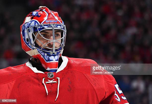 Al Montoya of the Montreal Canadiens during the NHL game against the San Jose Sharks at the Bell Centre on December 16 2016 in Montreal Quebec Canada