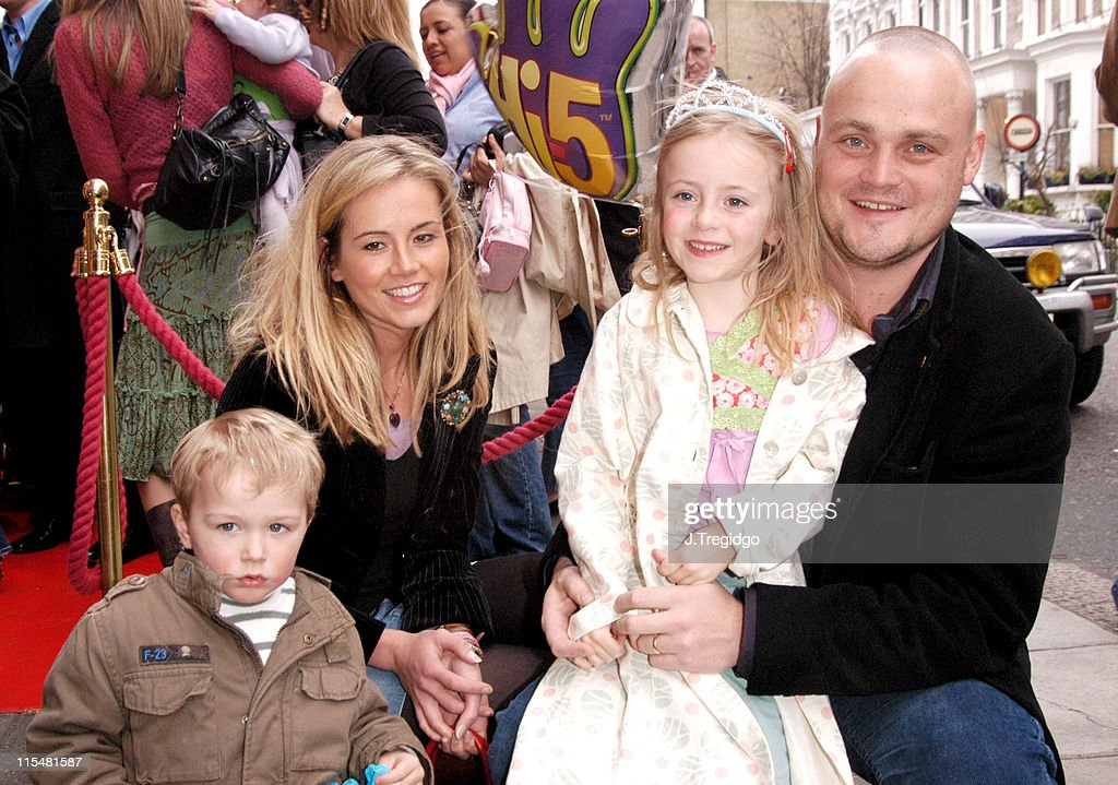 Al Murray and family during HI5 UK Concert Tour Launch at Sticky Fingers in London Great Britain