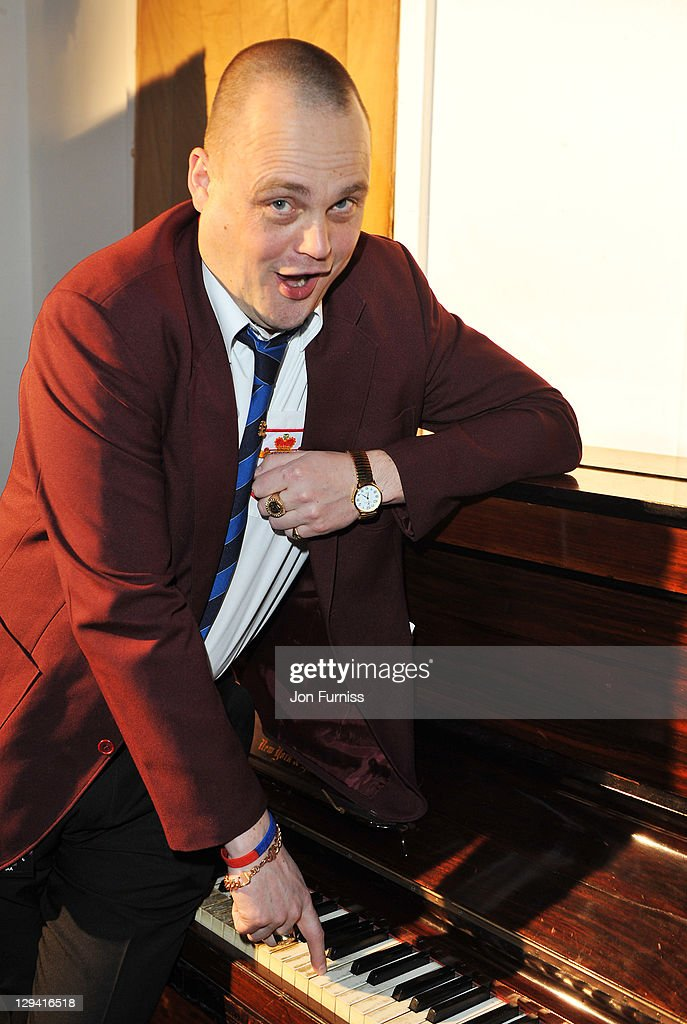 Al Murray performs at Sound Vision the musical fundraiser in aid of Cancer Research UK at Abbey Road Studios on February 24 2011 in London England