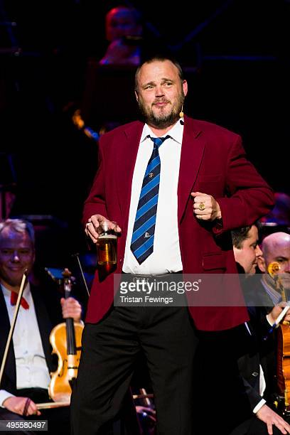 Al Murray performs at the Symfunny fundraiser in aid of Parkinson's UK at Royal Albert Hall on June 4 2014 in London England