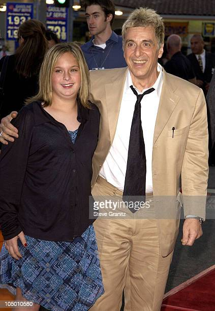 Al Pacino and daughter Julie during 'Simone' Los Angeles Premiere at National Theatre in Westwood California United States