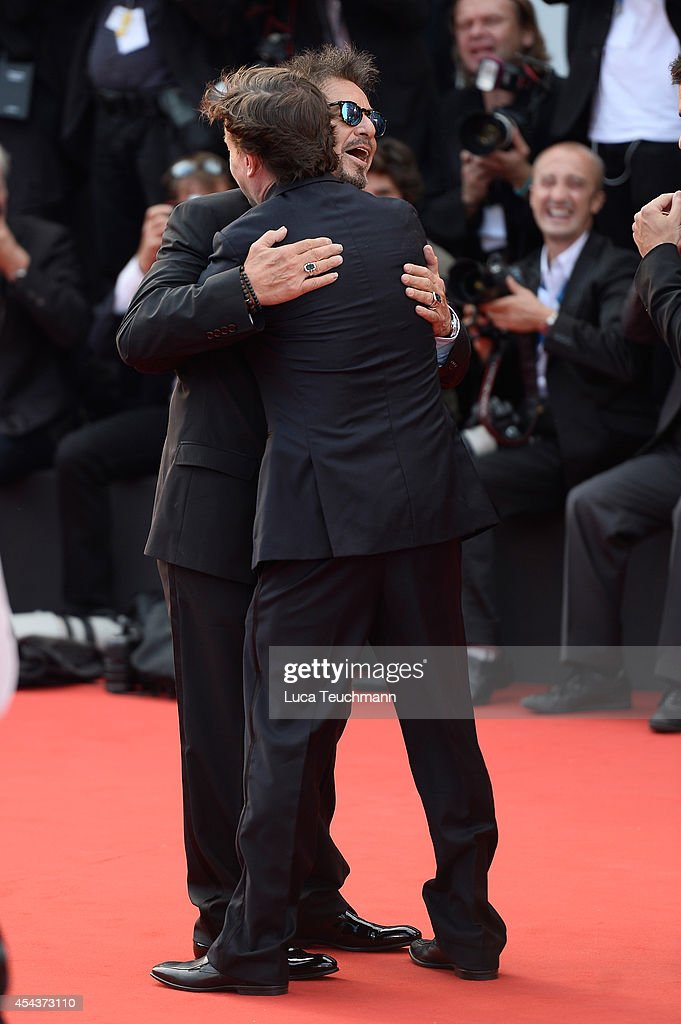 Al Pacino and David Gordon Green attend 'Manglehorn' Premiere during the 71st Venice Film Festival at Sala Grande on August 30 2014 in Venice Italy