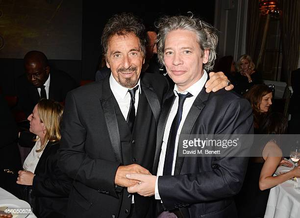 Al Pacino and Dexter Fletcher attend the Al Pacino BFI Fellowship Dinner supported by Moet Chandon at the Corinthia Hotel London on September 24 2014...