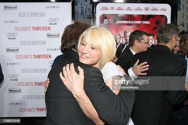 Al Pacino and Ellen Barkin during Warner Bros Pictures Village Roadshow Pictures Jerry Weintraub and Section 8 Productions Host the North American...