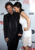 Al Pacino and Lucia Sola attend HBO Films' 'Phil Spector' premiere at the Time Warner Center on March 13 2013 in New York City