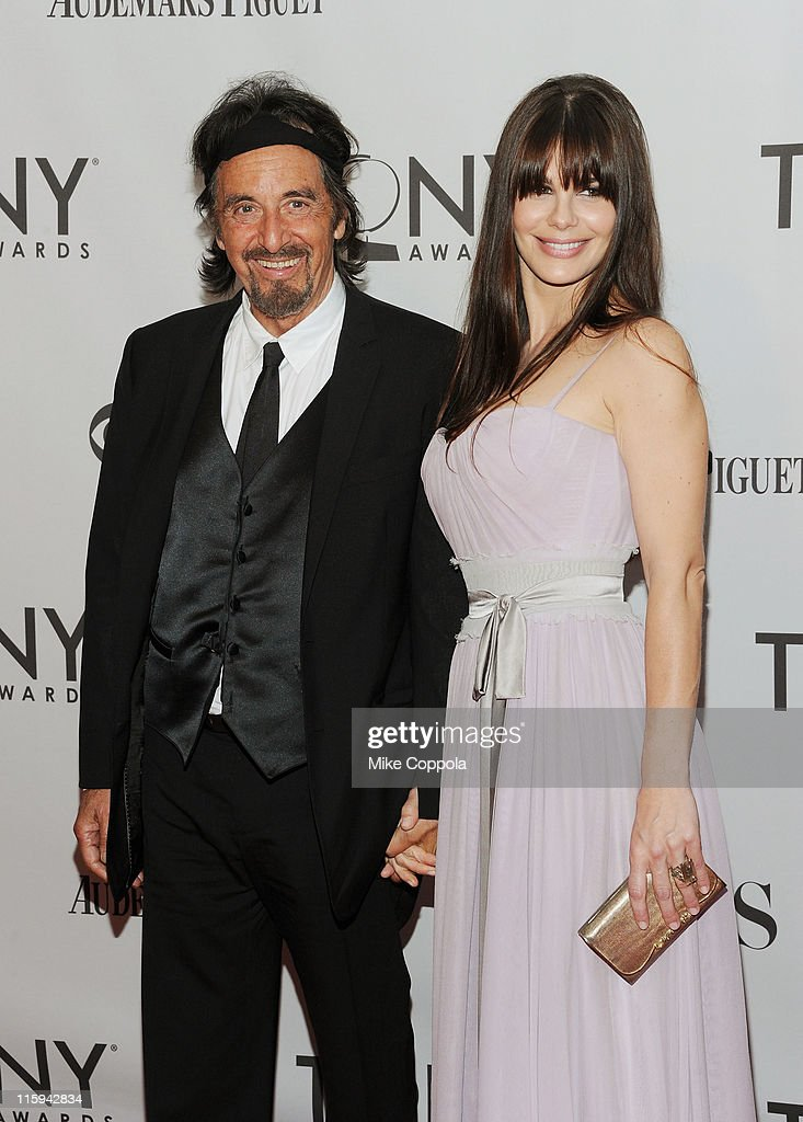 <a gi-track='captionPersonalityLinkClicked' href=/galleries/search?phrase=Al+Pacino&family=editorial&specificpeople=202658 ng-click='$event.stopPropagation()'>Al Pacino</a> and Lucila Polak attend the 65th Annual Tony Awards at the Beacon Theatre on June 12, 2011 in New York City.