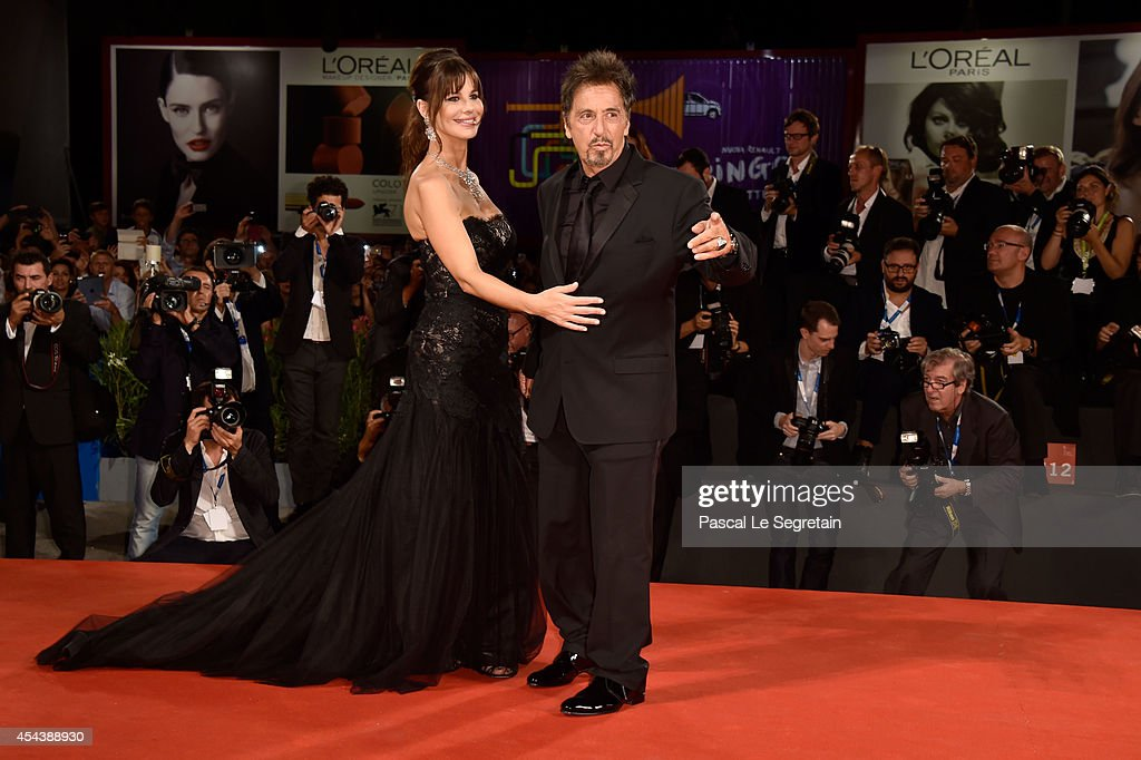 <a gi-track='captionPersonalityLinkClicked' href=/galleries/search?phrase=Al+Pacino&family=editorial&specificpeople=202658 ng-click='$event.stopPropagation()'>Al Pacino</a> and <a gi-track='captionPersonalityLinkClicked' href=/galleries/search?phrase=Lucila+Sola&family=editorial&specificpeople=6898117 ng-click='$event.stopPropagation()'>Lucila Sola</a> attend 'The Humbling' premiere during the 71st Venice Film Festival on August 30, 2014 in Venice, Italy.