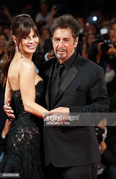 Al Pacino and Lucila Sola attend 'The Humbling' premiere during the 71st Venice Film Festival on August 30 2014 in Venice Italy