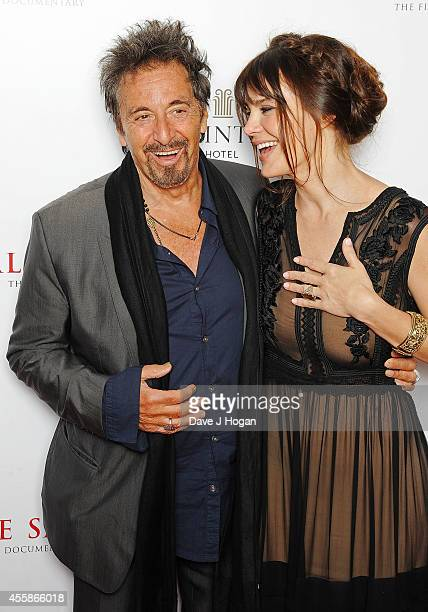 Al Pacino and Lucila Solaa attend a screening of 'Salome and Wilde Salome' at BFI Southbank on September 21 2014 in London England