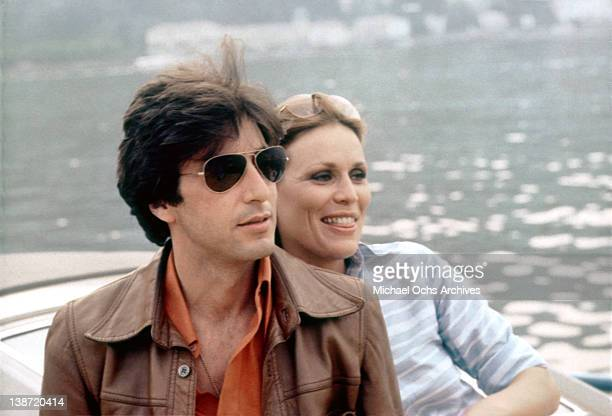 Al Pacino and Marthe Keller in a scene from the Columbial Pictures movie 'Bobby Deerfield' in Paris France