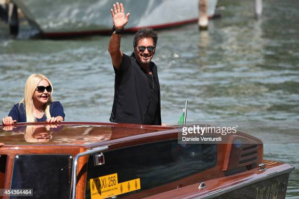 Al Pacino and Monika Bacardi are seen on Day 4 of the 71st Venice International Film Festival on August 30 2014 in Venice Italy
