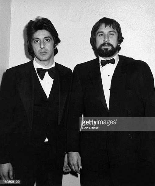 Al Pacino and Robert DeNiro attend Night of 100 Stars Gala on February 14 1982 at the New York Hilton Hotel in New York City