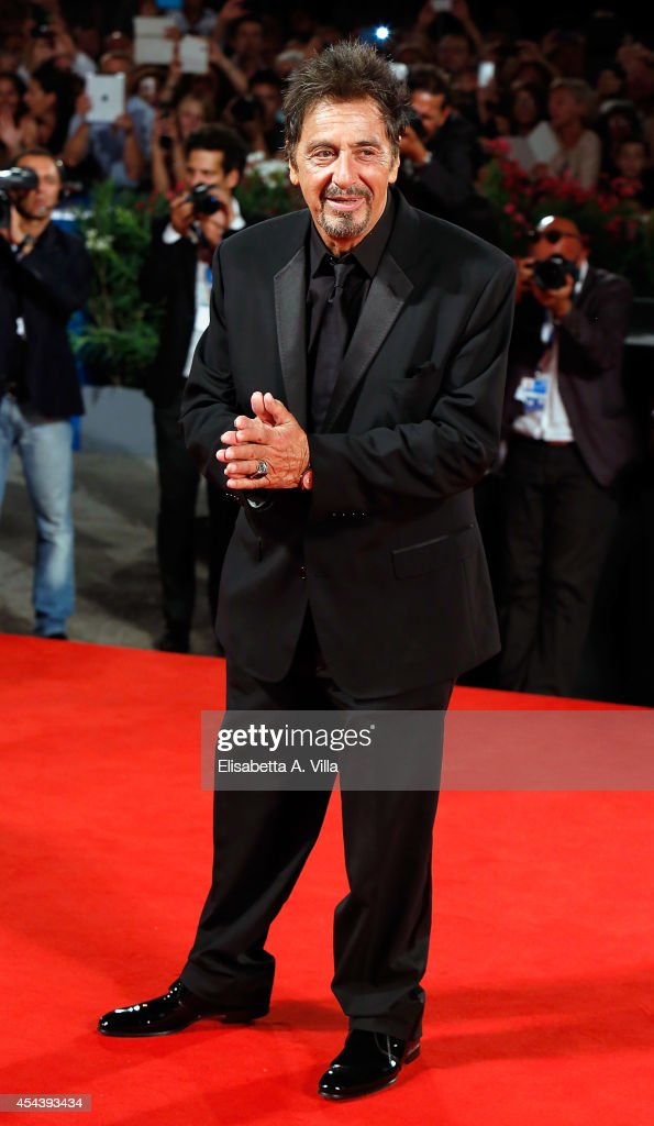 <a gi-track='captionPersonalityLinkClicked' href=/galleries/search?phrase=Al+Pacino&family=editorial&specificpeople=202658 ng-click='$event.stopPropagation()'>Al Pacino</a> attends 'The Humbling' premiere during the 71st Venice Film Festival on August 30, 2014 in Venice, Italy.