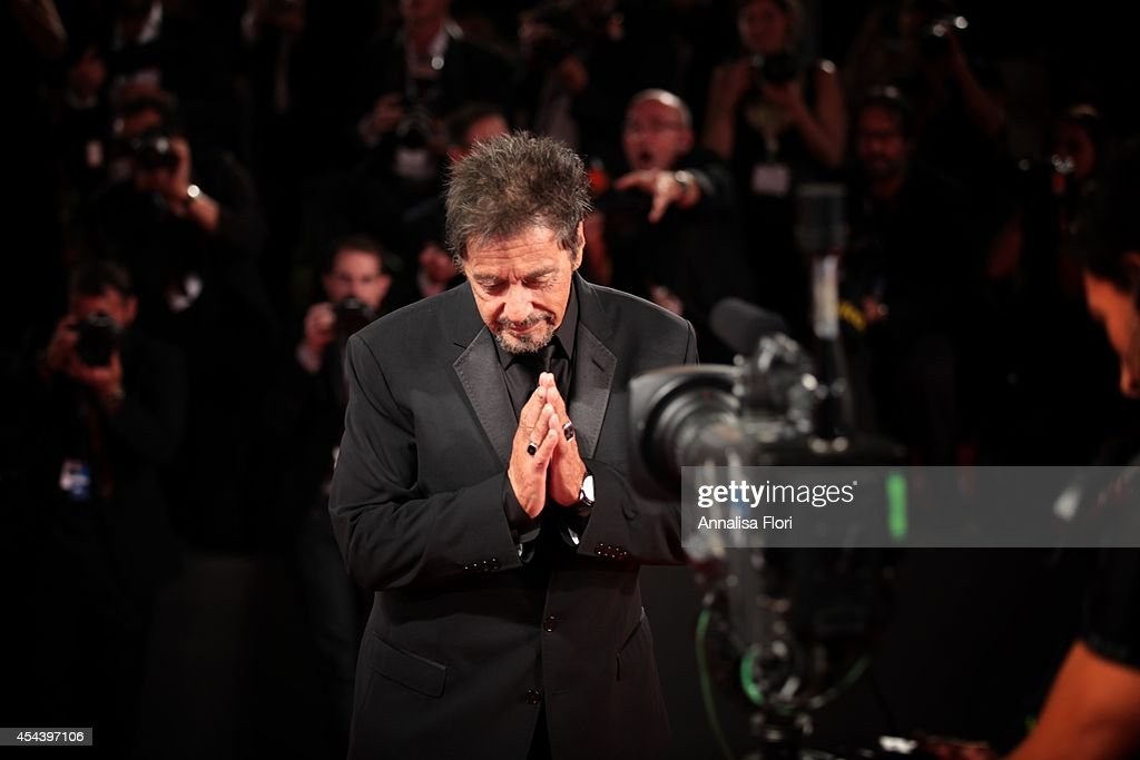 <a gi-track='captionPersonalityLinkClicked' href=/galleries/search?phrase=Al+Pacino&family=editorial&specificpeople=202658 ng-click='$event.stopPropagation()'>Al Pacino</a> attends 'The Humbling' premiere during the 71st Venice Film Festival on August 30, 2014 in Venice, Italy