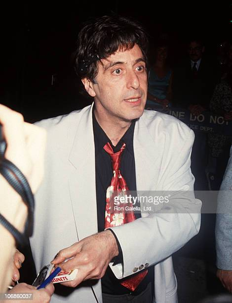 Al Pacino during Performance of 'Salome' June 27 1992 at Circle In The Square Theater in New York City New York United States
