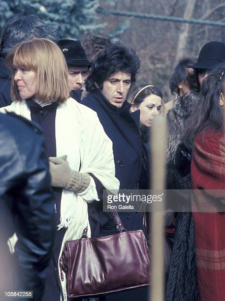 Al Pacino Ellen Burstyn and Strasberg Family during Lee Strasberg's Wake at Campbell's Funeral Parlor in New York City NY United States