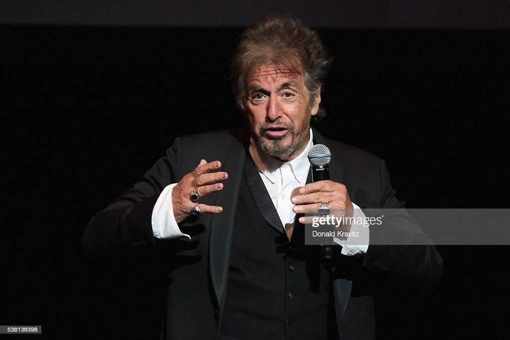 Al Pacino interacts with the audience at Borgata Hotel Casino & Spa on ... Al Pacino