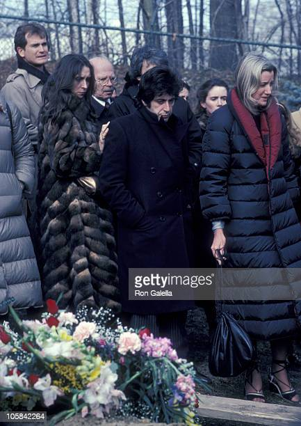 Al Pacino Sally Kirkland and Strasberg Family during Lee Strasberg's Wake at Campbell's Funeral Parlor in New York City NY United States