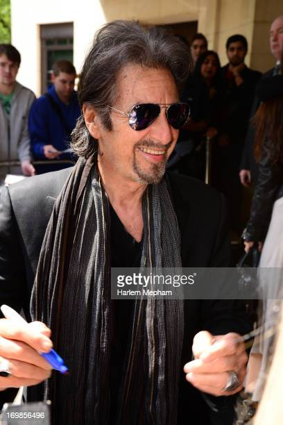 Al Pacino sighted leaving his hotel for a flight from Heathrow airport on June 3 2013 in London England