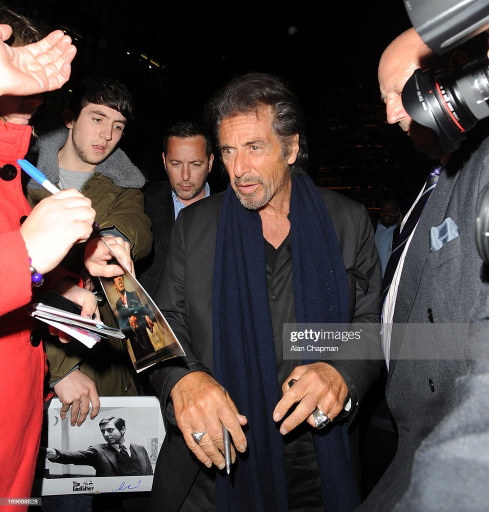 Al Pacino sighting at The Dorchester Hotel Park Lane on May 30, 2013 in London, England.