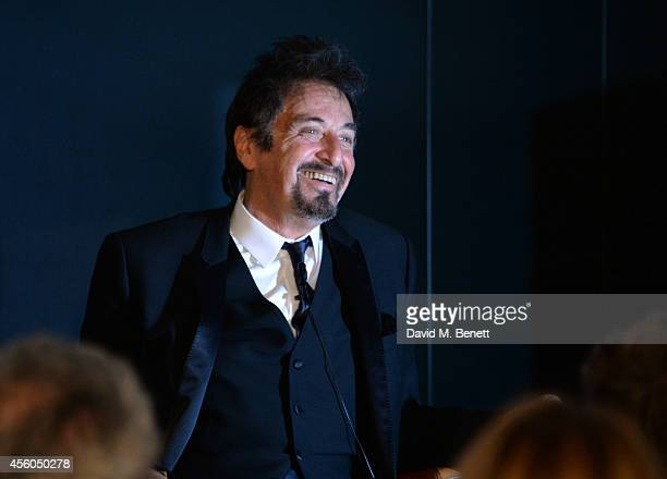 Al Pacino speaks at the Al Pacino BFI Fellowship Dinner supported by Moet Chandon at the Corinthia Hotel London on September 24 2014 in London England