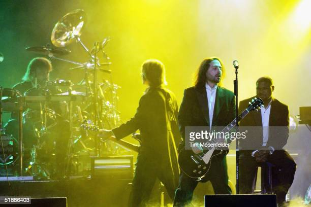 Al Pitrelli and bandmates perform as part of the west coast touring production of the Trans Siberian Orchestra perform at the HP Pavilion on December...