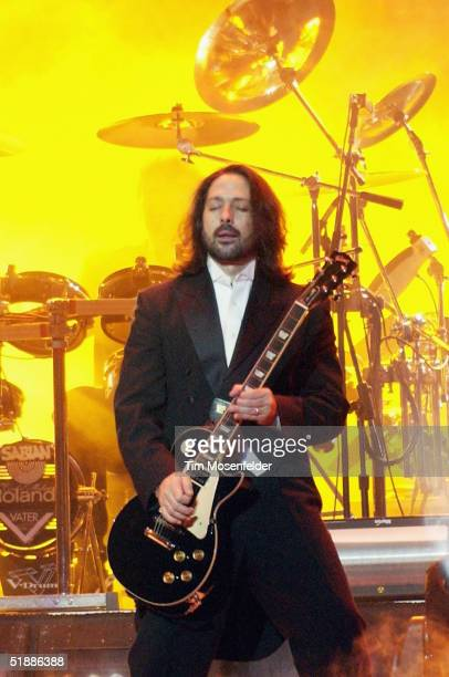 Al Pitrelli performs as part of the west coast touring production of the Trans Siberian Orchestra perform at the HP Pavilion on December 21 2004 in...