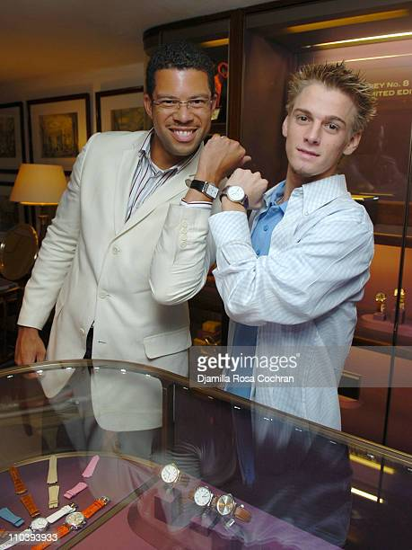 Al Reynolds and Aaron Carter during Jaci Wilson Reid and Morris Reid Host a Shopping Experience at Asprey to Benefit VH1 Save The Music Fund at...