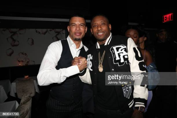 Al Reynolds and Maino attend the Maino album release party at Beautique on October 18 2017 in New York City