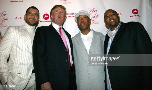 Al Reynolds Donald Trump Russell Simmons and Kevin Liles