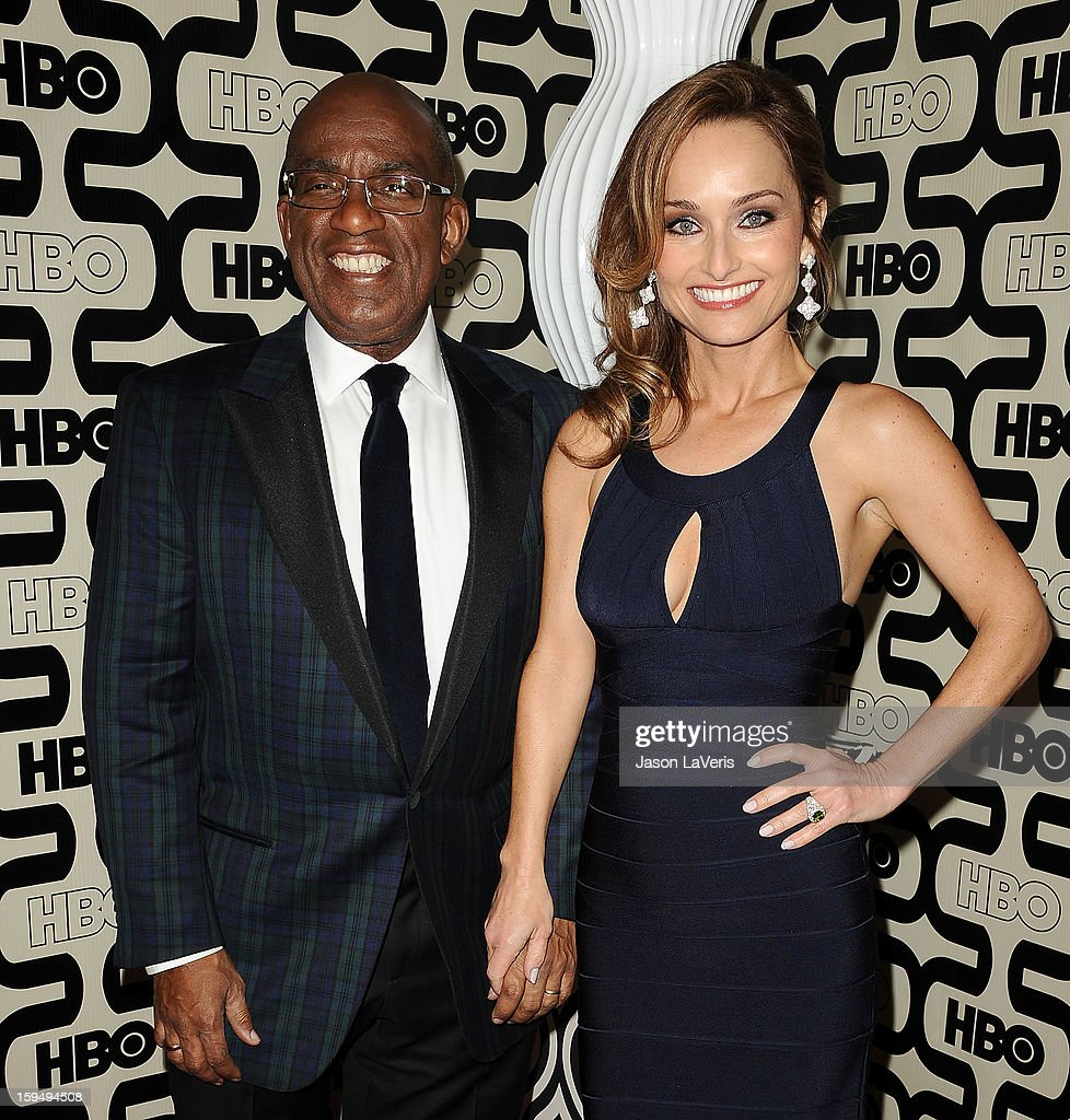 <a gi-track='captionPersonalityLinkClicked' href=/galleries/search?phrase=Al+Roker&family=editorial&specificpeople=206153 ng-click='$event.stopPropagation()'>Al Roker</a> and <a gi-track='captionPersonalityLinkClicked' href=/galleries/search?phrase=Giada+De+Laurentiis&family=editorial&specificpeople=601210 ng-click='$event.stopPropagation()'>Giada De Laurentiis</a> attend the HBO after party at the 70th annual Golden Globe Awards at Circa 55 restaurant at the Beverly Hilton Hotel on January 13, 2013 in Los Angeles, California.