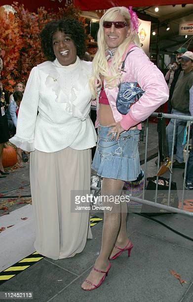 Al Roker and Matt Lauer during 'The Today Show' Halloween Episode October 29 2004 at NBC Studios Rockefeller Center in New York City New York United...