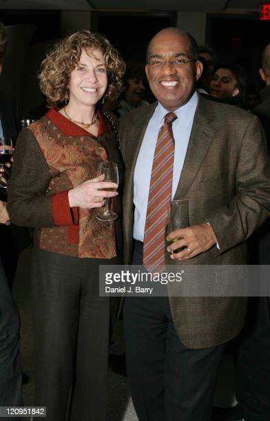 Al Roker and Susan Werbe from The History Channel at the screening of Honored Deferred February 6 2006 in New York City at an advance screening at...